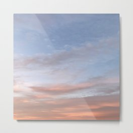 Pinkish Aesthetic Sky Metal Print