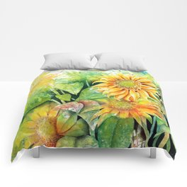Colorful Sunflowers Comforters