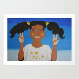 Peace, Love, and Jesus Art Print
