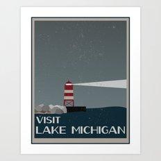 Visit Lake Michigan  Art Print