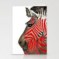 zebra Stationery Cards featuring Zebra by Saundra Myles