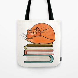 With Books And Cats Life Is Sweet Tote Bag