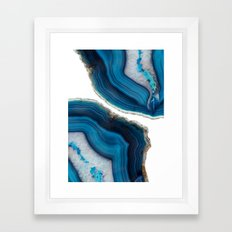 Blue Agate Framed Art Print
