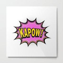 KAPOW! Comic Book Metal Print