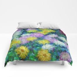 "Claude Monet ""Chrysanthemums"", 1897 Comforters"
