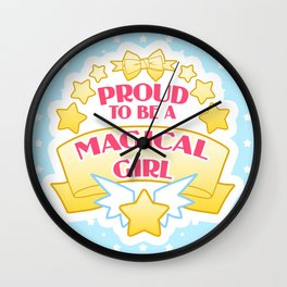 Proud to be a Magical Girl Wall Clock