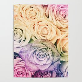 Some people grumble - Colorful Roses - Rose pattern Poster