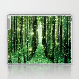 Magical Forest Green Elegance Laptop & iPad Skin