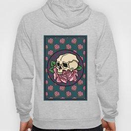 Skull with peony Hoody