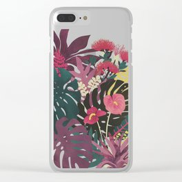 Tropical Tendencies Clear iPhone Case