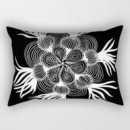 Onion Mandala Negative Rectangular Pillow