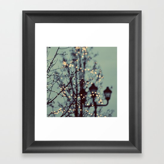 Winter Lights Framed Art Print