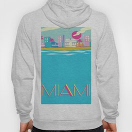 Miami 1980s poster Hoody
