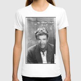 Mel Gibson Mug Shot Vertical Black And White T-shirt