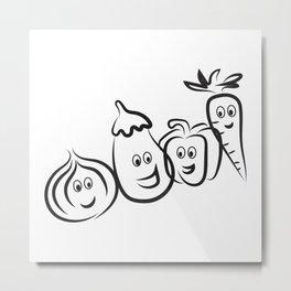 vegetable lover Metal Print