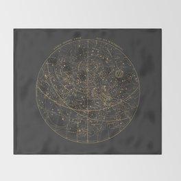 Visible Heavens - Dark Throw Blanket