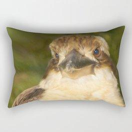 Painted laughing kookaburra Rectangular Pillow