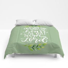 AS FOR ME AND MY HOUSE Comforters