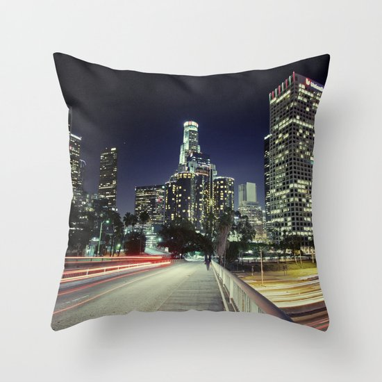 Black River, Your City Lights Shine Throw Pillow