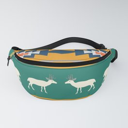 Ethnic Christmas pattern with deer Fanny Pack