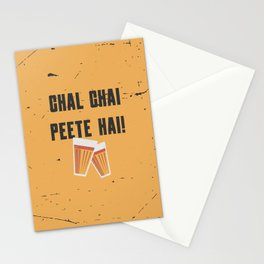 Funny Chal Hindi Quote Stationery Cards