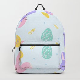 Cute Easter Bunny Pattern Backpack