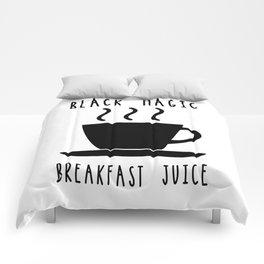 Black Magic Breakfast Juice Coffee Caffeine Morning Comforters