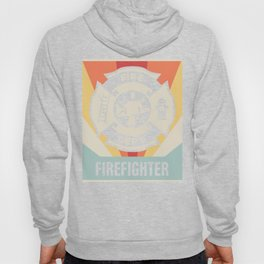 Vintage Style FIREFIGHTER Fire Dept Icon Hoody