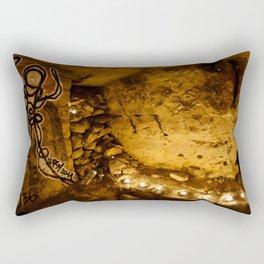 Le Mur de Broches // The Wall of Pins, Squat du Sud Rectangular Pillow