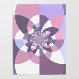Mauve Lavender Puce Kaleidoscope Poster