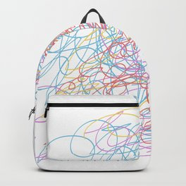 messy scribbles Backpack