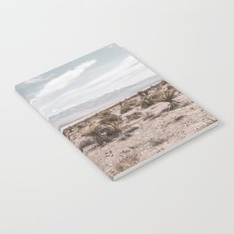 Vintage Desert Hombre // Cactus Cowboy Mojave Landscape Photograph Sunshine Hippie Mountain Decor Notebook
