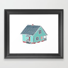 Little Porch House Framed Art Print