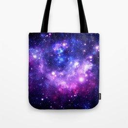 Purple Blue Galaxy Nebula Tote Bag