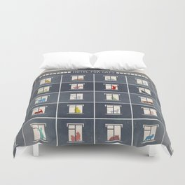 hotel for cats Duvet Cover