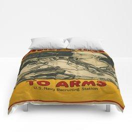 Vintage poster - Enlist in the Navy Comforters
