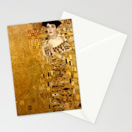 Woman in Gold Portrait by Gustav Klimt Stationery Cards