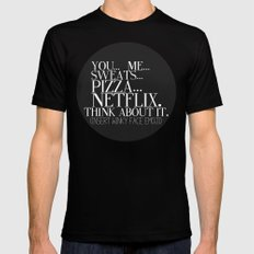 Think about it? X-LARGE Mens Fitted Tee Black