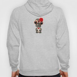 Red Day of the Dead Sugar Skull Baby Platypus Hoody