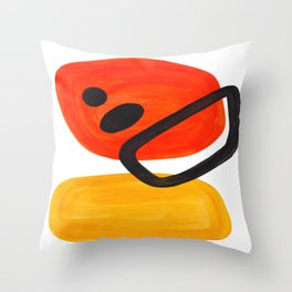 Midcentury Modern Colorful Abstract Pop Art Space Age Fun Bright Orange Yellow Colors Minimalist Deko-Kissen