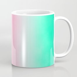 Sorbet Mist - misty scene on mint green, smokey grey & rose pink clouds Coffee Mug