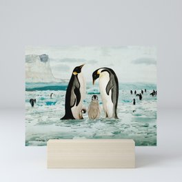 Emperor Penguin Family Mini Art Print