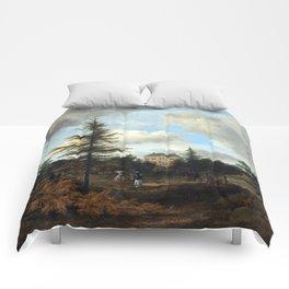 Jacob van Ruisdael Country House in a Park Comforters