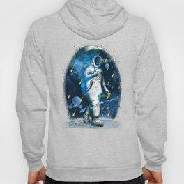 Meteor Shower Astronaut Illustration graphic Hoody