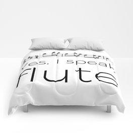 I speak flute Comforters