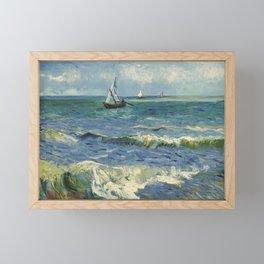 The Sea at Les Saintes-Maries-de-la-Mer by Vincent van Gogh Framed Mini Art Print