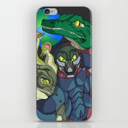 3 Reptilian Earth iPhone Skin