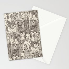 dogs aplenty natural Stationery Cards