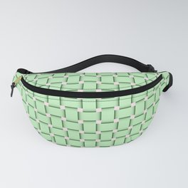 green,color pattern of many small four corners Fanny Pack
