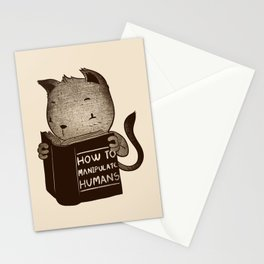 Cat Book How To Manipulate Humans Stationery Cards
